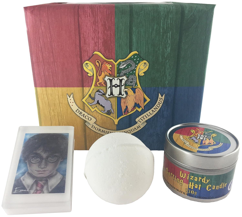 Harry Potter Sorting Hat Gift set Hogwarts Wizard | Bath Bomb | candela | Soap | in cui House will your fate lie? | spirito libero da bagno e corpo Free Spirit
