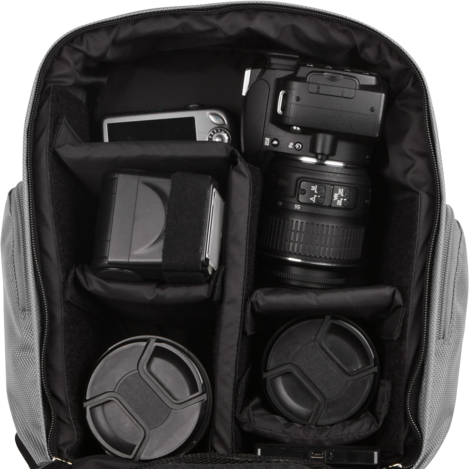 DSC RX1R Black and Gray DSC RX1 Digital Cameras and Mini Tripod and Screen Protector VanGoddy Sparta Travel Backpack for Sony Cyber Shot DSC RX100 II