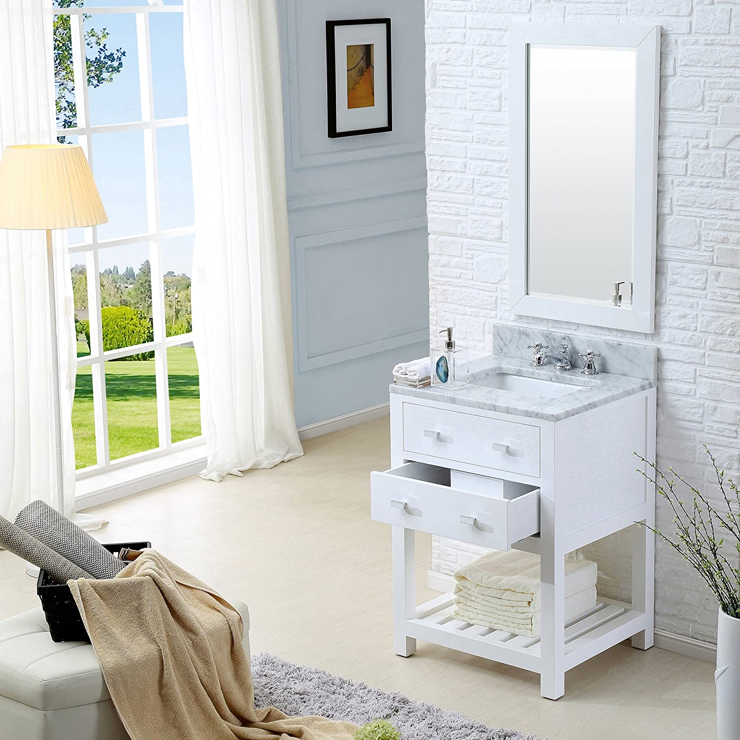 Water Creation 24WB Single Sink Bathroom Vanity with Matching