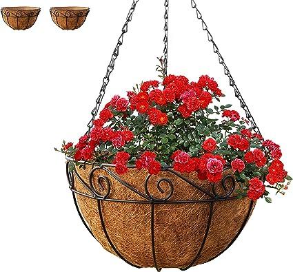 Garden Plant Hanger Hanging Planter Basket Balcony Flower Pot Chain Holder Decor