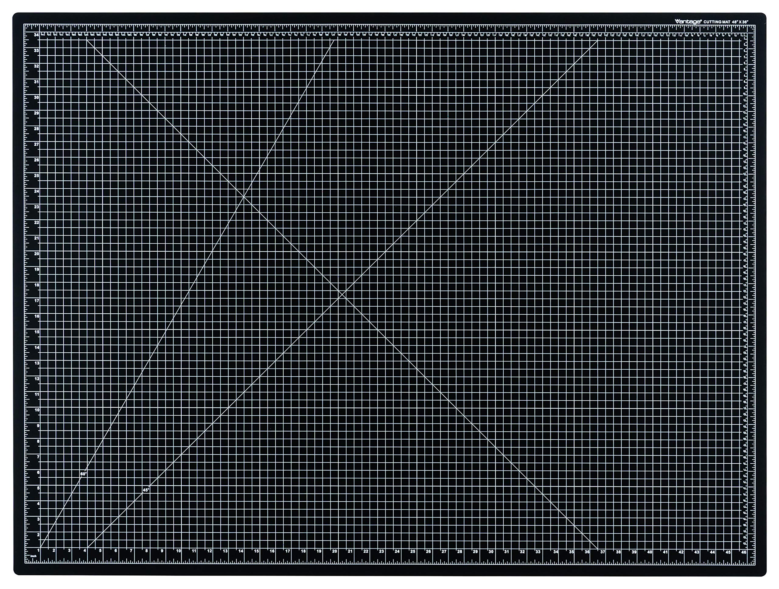 Dahle Vantage 10674 Self-Healing 5-Layer Cutting Mat Perfect for Crafts and Sewing 36'' x 48 Black Mat