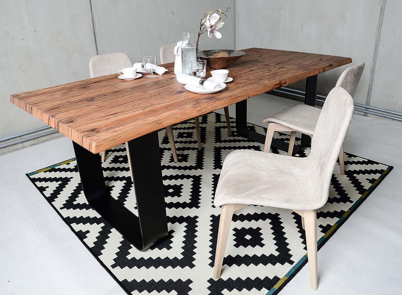 Sun Wood Altholztisch massiv, Esstisch, Küchentisch, Massivholztisch, Vollholztisch, Design Tirol 200x100