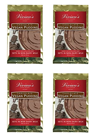 Chocolate Vegan Pudding instantáneo 4 Pk por Vivian Live ...