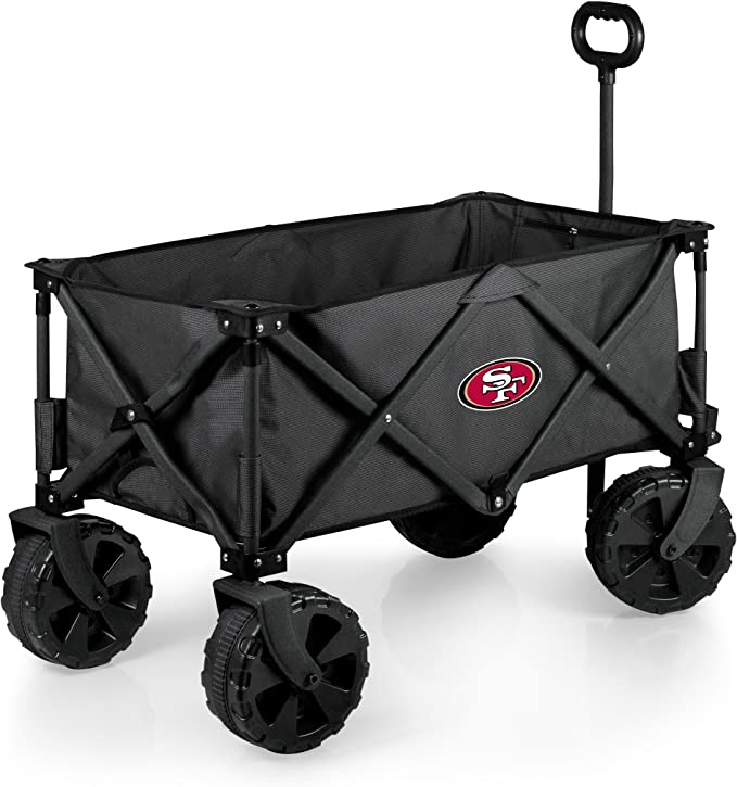 PICNIC TIME NFL Unisex NFL Elite Edition Collapsible Adventure Wagon with All-Terrain Wheels