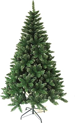 ALEKO CT47H300 Artificial Holiday Christmas Tree Premium Pine with Stand Snow Dusted 4 Foot Green and White