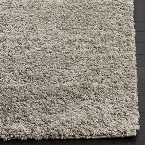 Safavieh Arizona Shag Collection ASG745D Area Rug, 6 7 x 6 7 Square, Grey Ivory