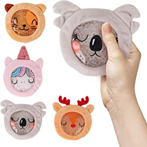 Kids Ice Packs for Boo boos - Hot Cold Kids Ice Pack - Perfect Boo Boo Buddy for Injuries, Pain Relief, Fever, Wisdom Teeth, Sinus, Headaches - Reusable Pack of 4 - Includes Stickers & Coloring Pages