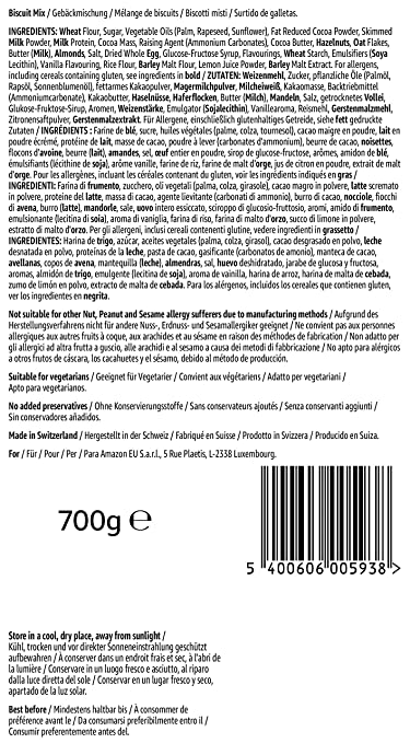 Marca Amazon - Solimo - Galletas Family Mix - 6 packs de 700g: Amazon.es: Alimentación y bebidas