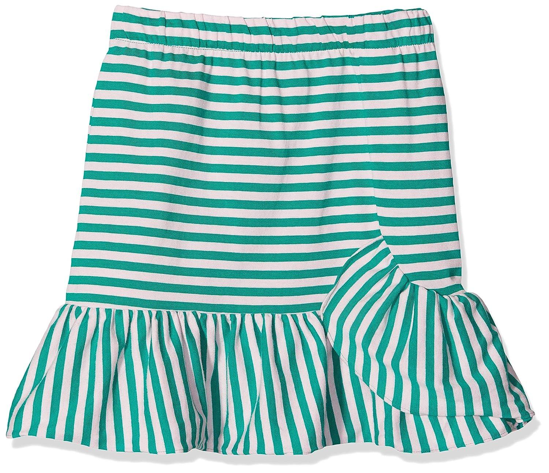 Scotch /& Soda Girls Yarn Dye Striped Jersey Mini Skirt with Ruffle