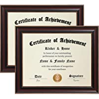 ELSKER&HOME 8.5×11 Certificate Frame - Classic Cherry Wood Color - 2.0 mm Panels - 8.5×11 Inch Without Mat -11×14 Inch…