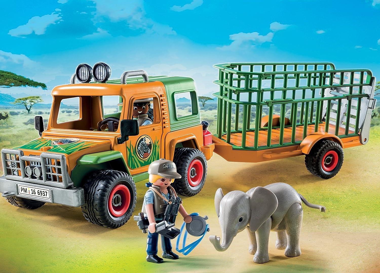 Multicolore Playmobil 6937 Jeep dei Rangers con Gabbia di Trasporto