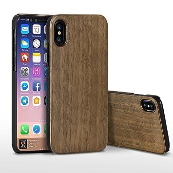 coque iphone x antichoc bois