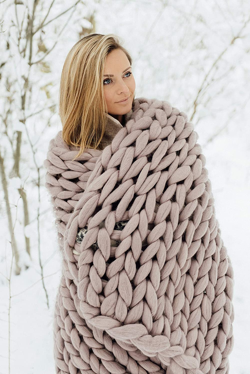 knitted blanket blanket throw chunky knitted blanket throw blanket Chunky knit blanket Merino wool blanket, chunky knits Throw