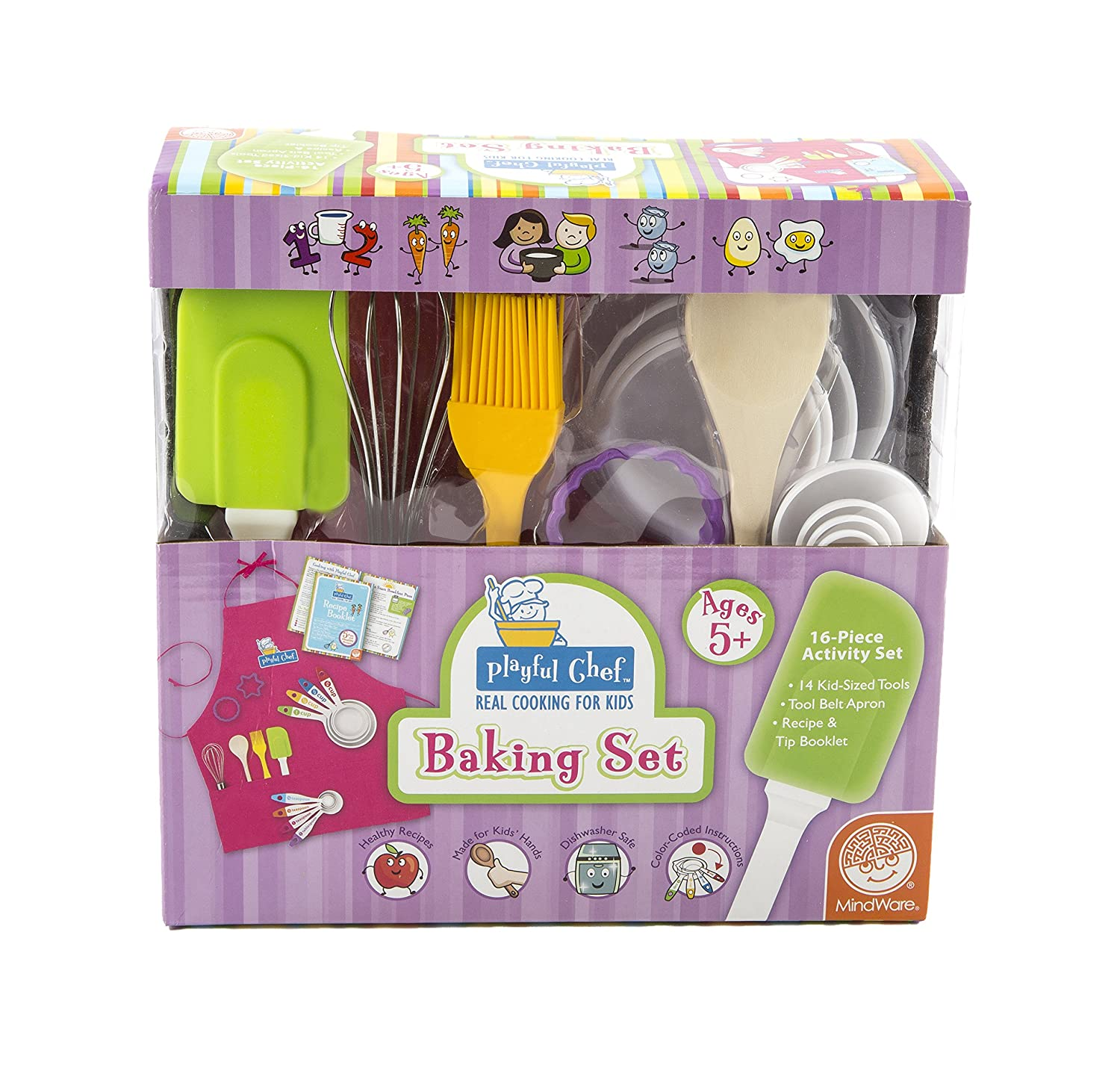 Playful Chef Baking with Pink Apron Pro-Motion Distributing - Direct 66005