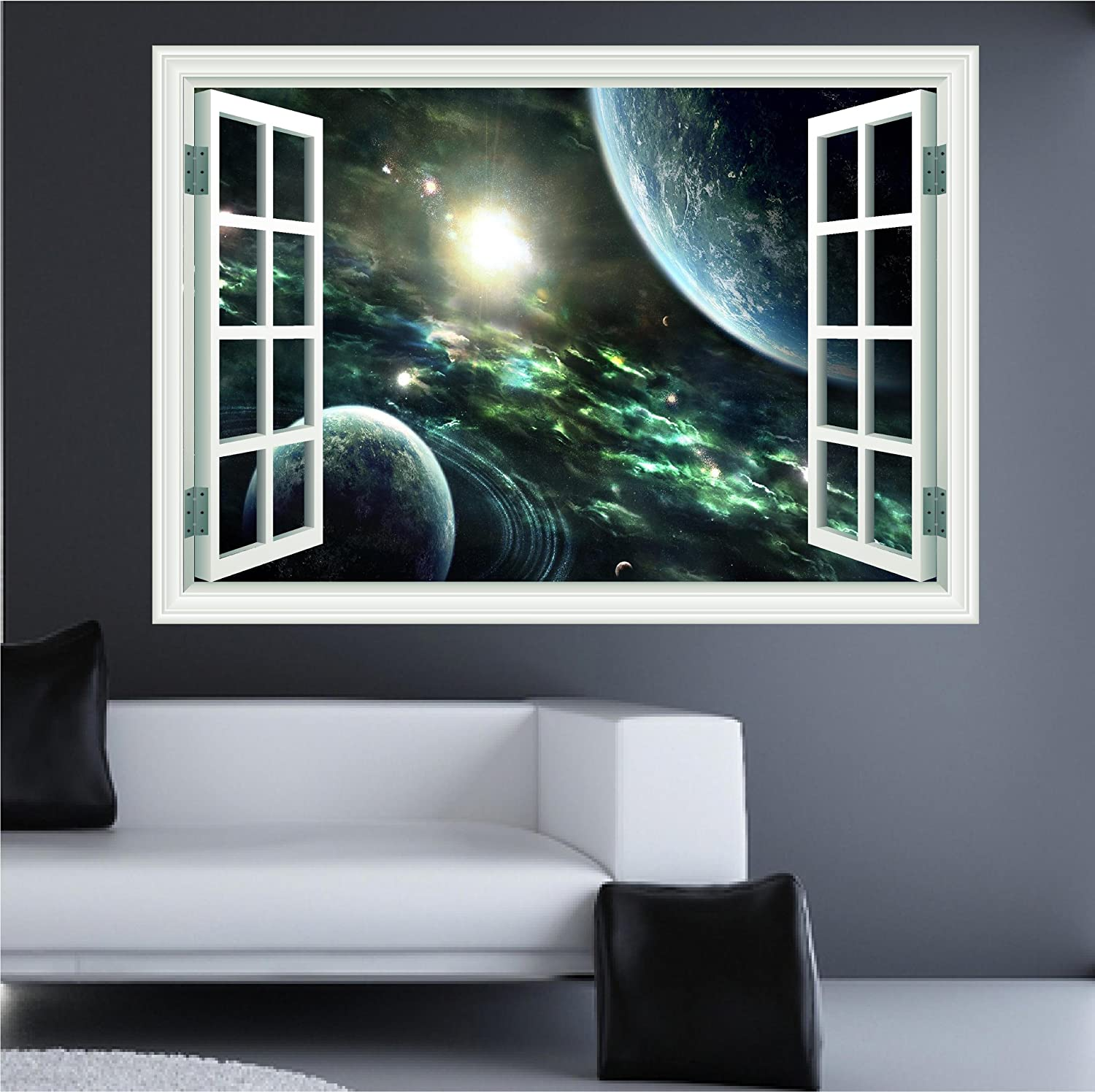 Huge D Space Window Wall Art Sticker Decal Amazoncouk Kitchen - Window stickers for home uk
