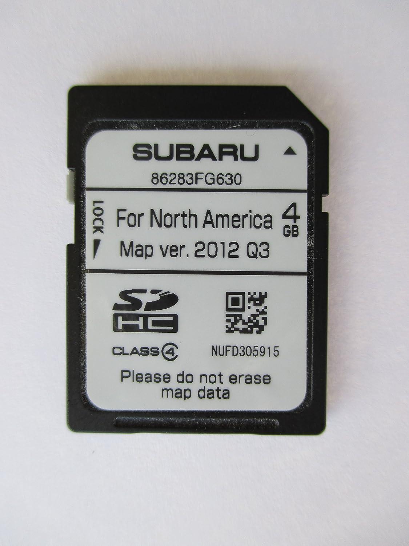 FG630 2014 SUBARU IMPREZA WRX STI 14 SD NAVIGATION CARD , MAP FOR NORTH  AMERICA, USA / CANADA PART NUMBER 86283FG630