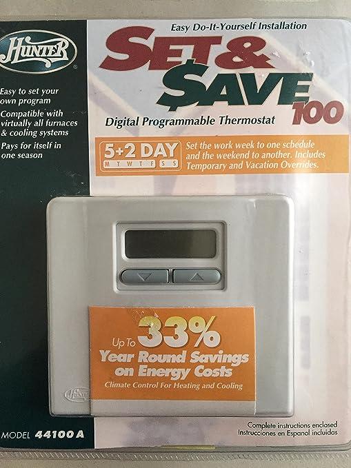 Hunter programmable thermostat manual night light hunter set save.