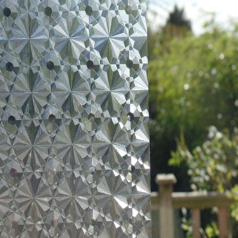 3D REUSABLE, Static Decorative Translucent Window Vinyl Cling Film ...