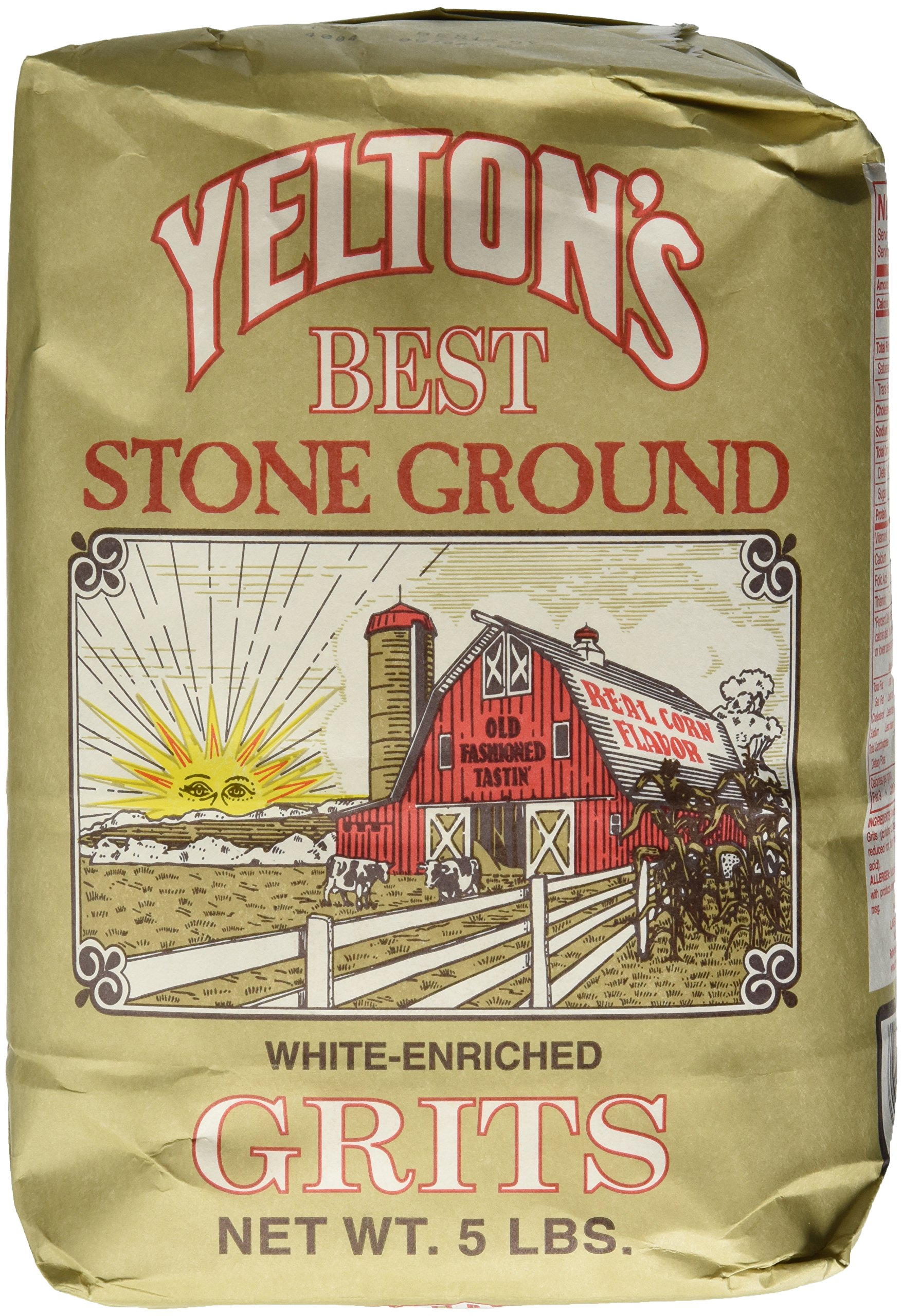 Yelton's Best Stone Ground White Grits - 5 lb by Yelton's