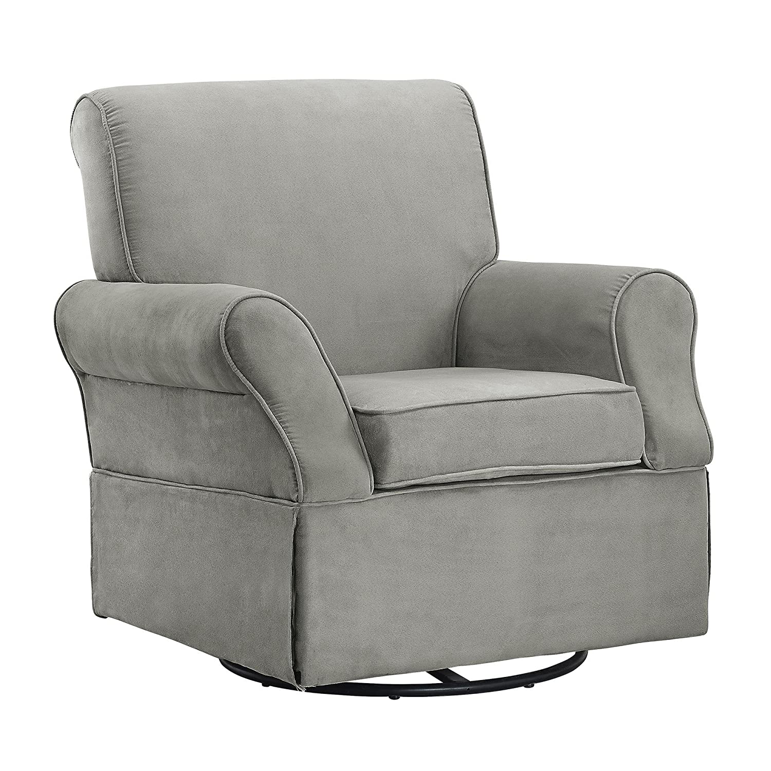 Attrayant Amazon.com: Baby Relax The Kelcie Nursery Swivel Glider Chair And Ottoman  Set, Grey: Baby
