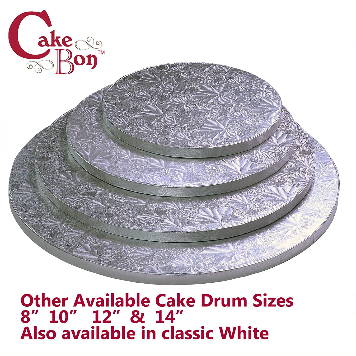 Professional Smooth Straight Edges White, 3-Pack Sturdy 1//2 Inch Thick Cake Drums Round 12 Inches