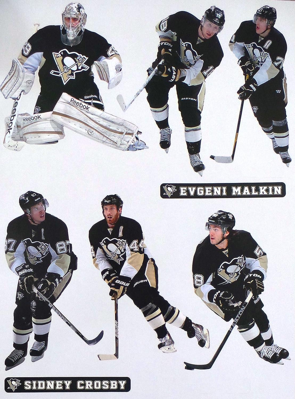 Amazon.com   FATHEAD Pittsburgh Penguins Graphics Team Set 6 Players  Official NHL Vinyl Wall Graphics - 8
