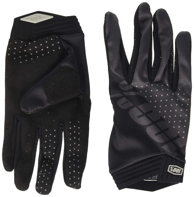 Hombre 100 Percent ITRACK 100/% Glove Black//Charcoal XL Guantes para ocasi/ón Especial Mediano Negro
