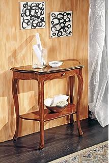 estea mobili - tavolo legno consolle e specchio ingresso arte ... - Mobili Per Ingresso Arte Povera
