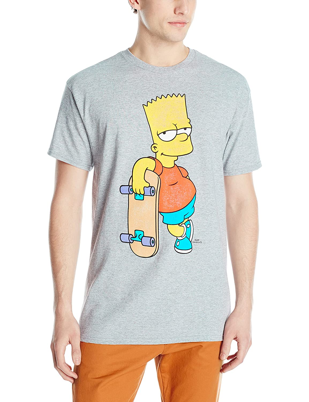 11275032 Amazon.com: Men's Bart Simpson Skateboarding T-Shirt: Clothing