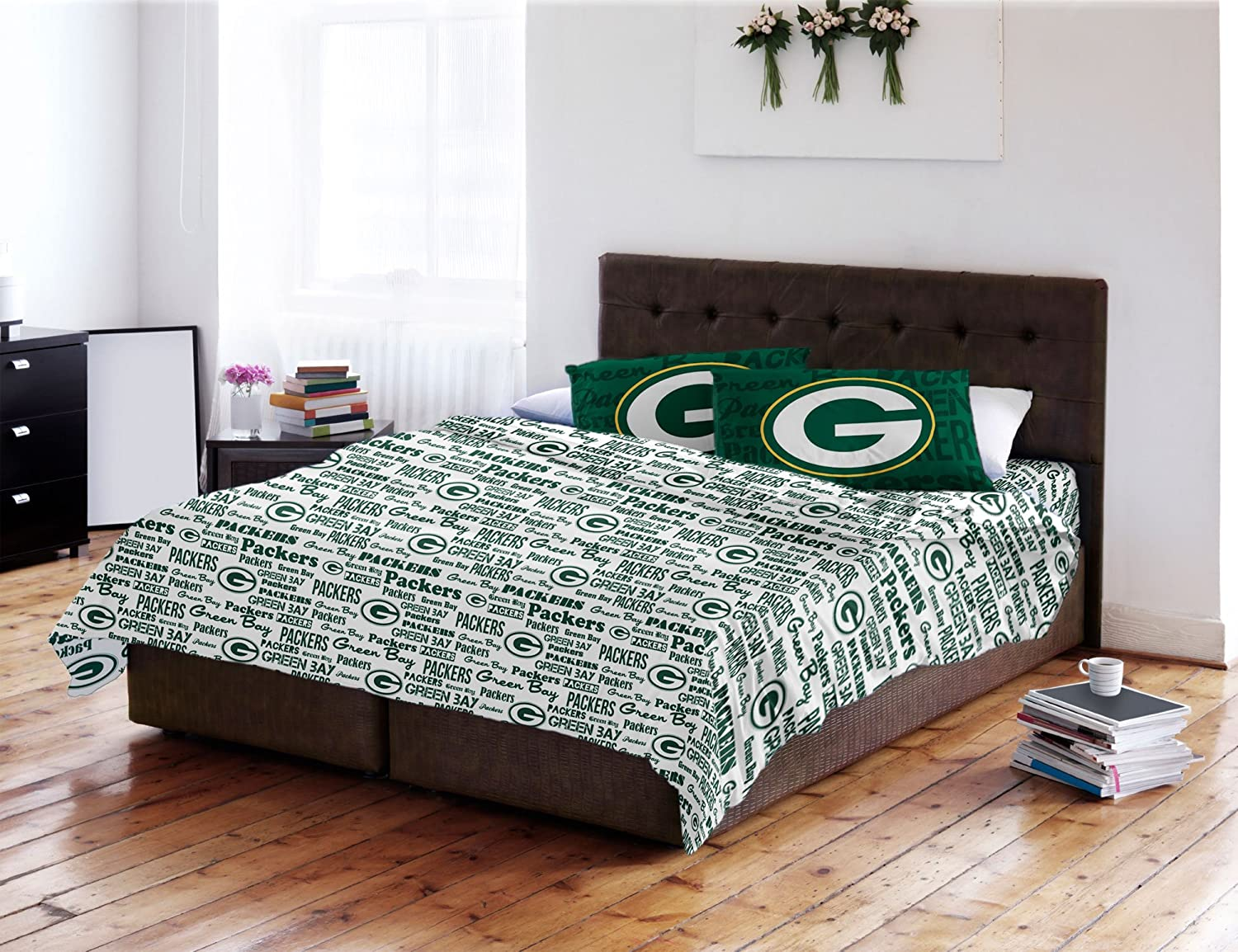 NFL Green Bay Packers Full Sheet Set Football Anthem Bedding