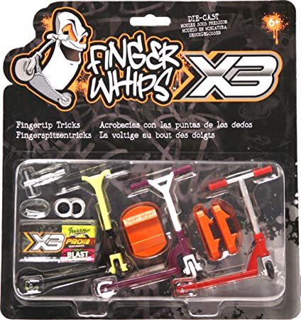 Amazon.com: Finger Whips Pro Scooter Triple Pack: Toys & Games