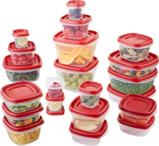 product image for Rubbermaid Easy Find Lids Food Storage Containers, Racer Red, 42 Piece Set
