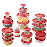 Rubbermaid Easy Find Lids Food Storage Container, 42-Piece Set, Red (1880801)