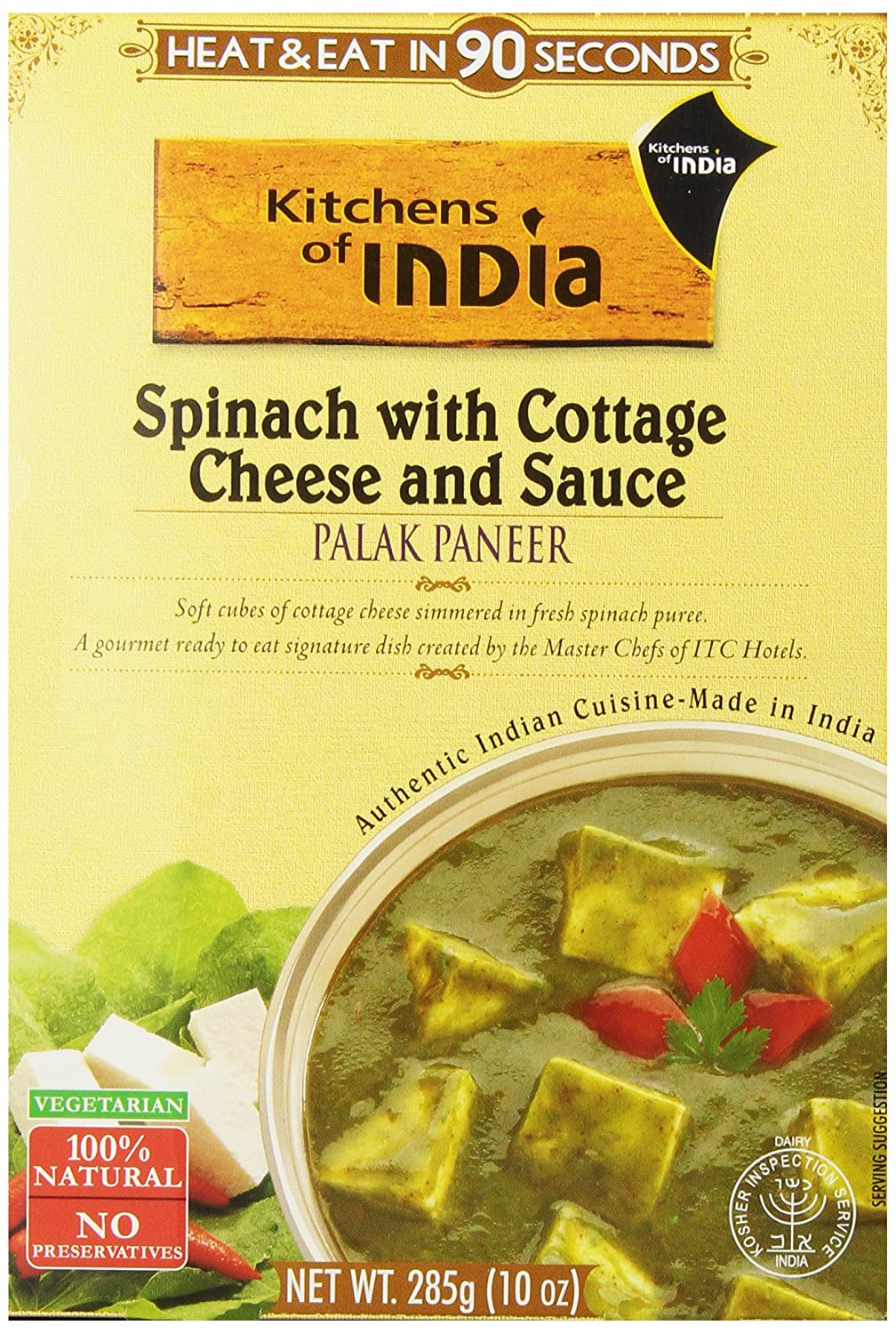 Amazon com   Kitchens of India Ready to Eat Dish  Spinach with Cottage  Cheese and Sauce  Palak Paneer  10 Ounce  Pack of 6    Indian Food    Grocery  Amazon com   Kitchens of India Ready to Eat Dish  Spinach with  . Amazon Kitchens Of India Butter Chicken. Home Design Ideas