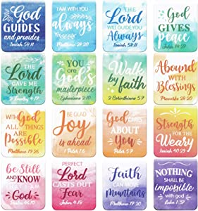 Dianelhall 96 Pieces Inspirational Magnetic Bookmarks Magnet Page Markers Motivational Page Clips Positive Magnetic Book Marker for Students Teachers School Home Office Supplies,16 Styles