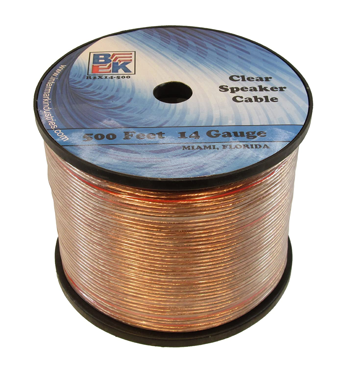 Blast King IR2X14B 14 Gauge Speaker Wire, 500-Feet BlastKing IR2X14B-500