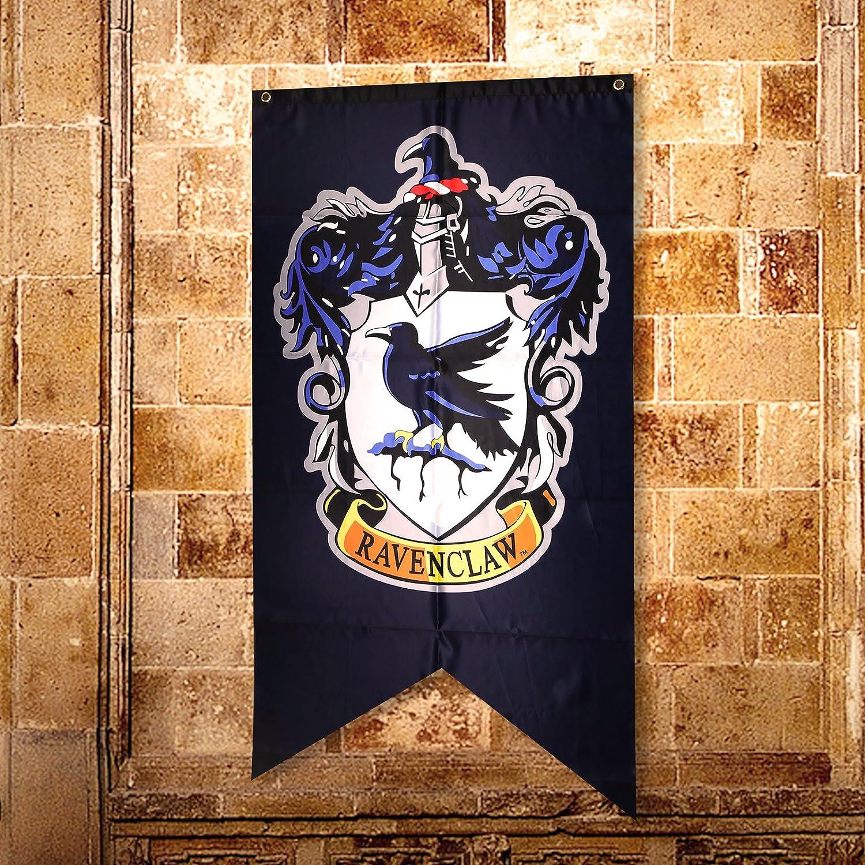 Creative-Idea Harry Potter Banni/¨/¨re Embl/¨/¨me Ravenclaw Coll/¨/¨ge Drapeaux Bleu Aigle Cadeau Maison F/¨/ºte D/¨/¦coration