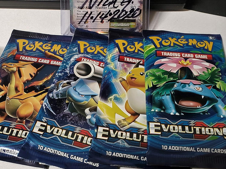 4x Pokemon TCG Generations Booster Packs 1 of Each Pack Art Charizard Pikachu