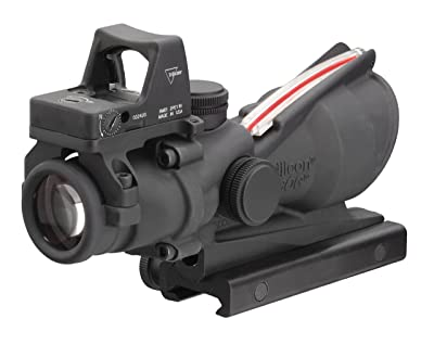 Trijicon TA31RMR ACOG 4x32 Scope, Dual Illuminated Red Crosshair .223 Ballistic Reticle, 3.25 MOA RMR Sight