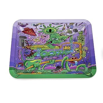 Amazon Com Ooze Rolling Tray Purple Ooze Factory Medium