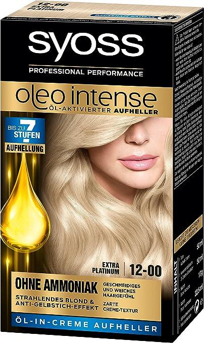 Syoss Oleo Intense Tinte para el cabello, 12-00 Extra Platinum, 3 unidades (3 x 133 ml)