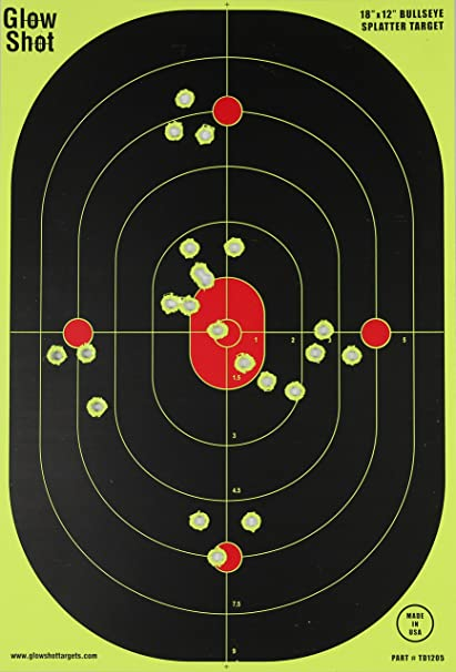 HUGE 10 Pack Targets 18x24 inch Triple Silhouette Splatter Glowshot Shooting