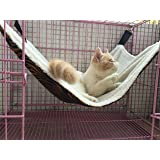Cat Hammock / Ferret, Rat, Rabbit, Small Dogs or Other Pet - Easy to Attach to a Cage - 3 Designs