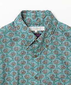 Liberty Print Buttondown Shirt 51-11-0493-012: Bottle Ship