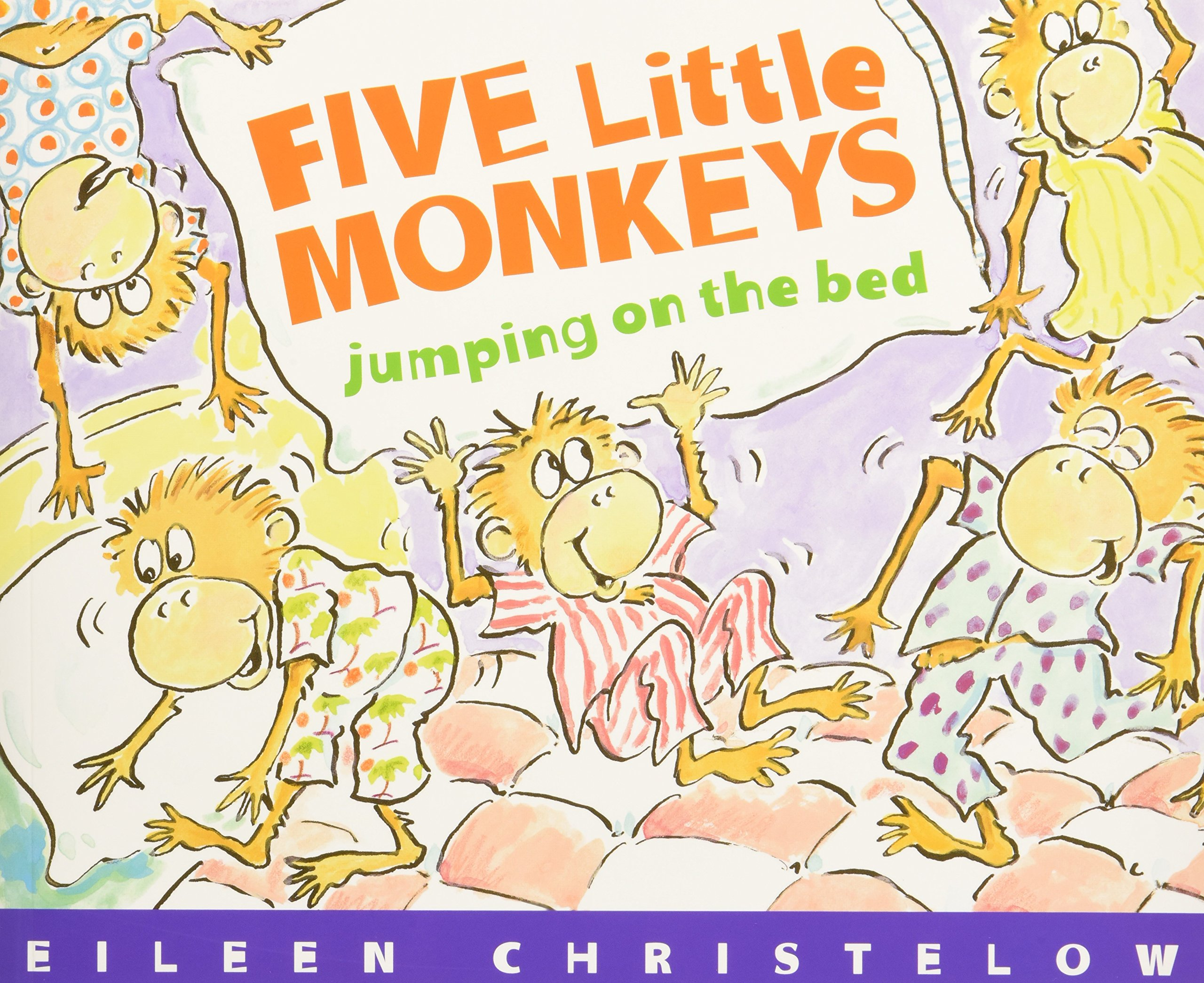Read Online Five Little Monkeys Jumping on the Bed (Book & CD) PDF