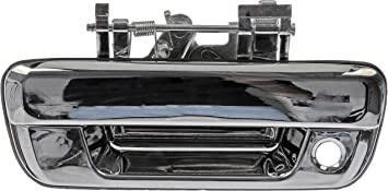 Tailgate Handle Compatible with CHEVROLET COLORADO 2004-2011 All Chrome with Keyhole
