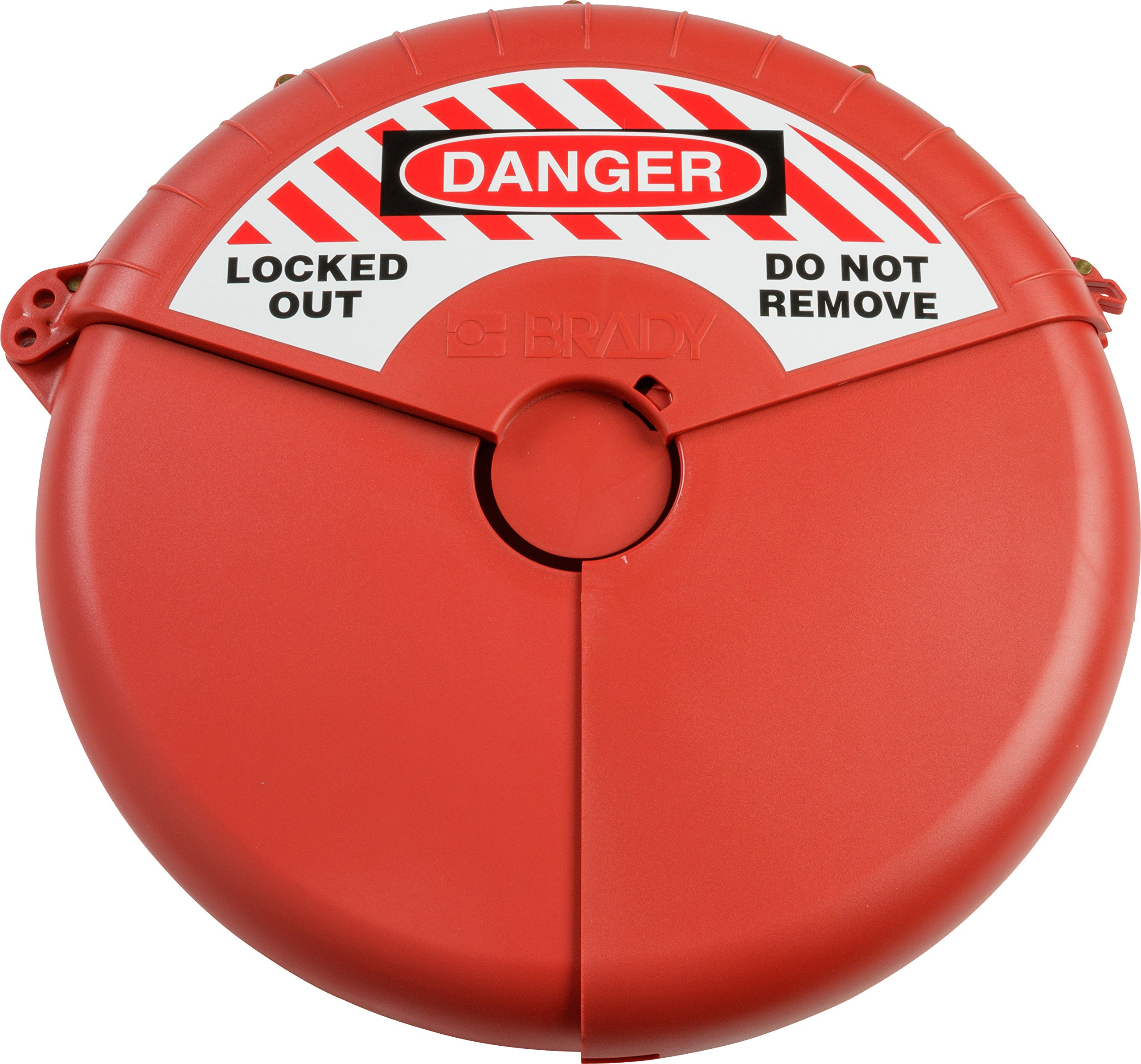 Brady Collapsible Gate Valve Lockout Device - Compatible with Gate Valves 13-18'' in Diameter - Red - 148646