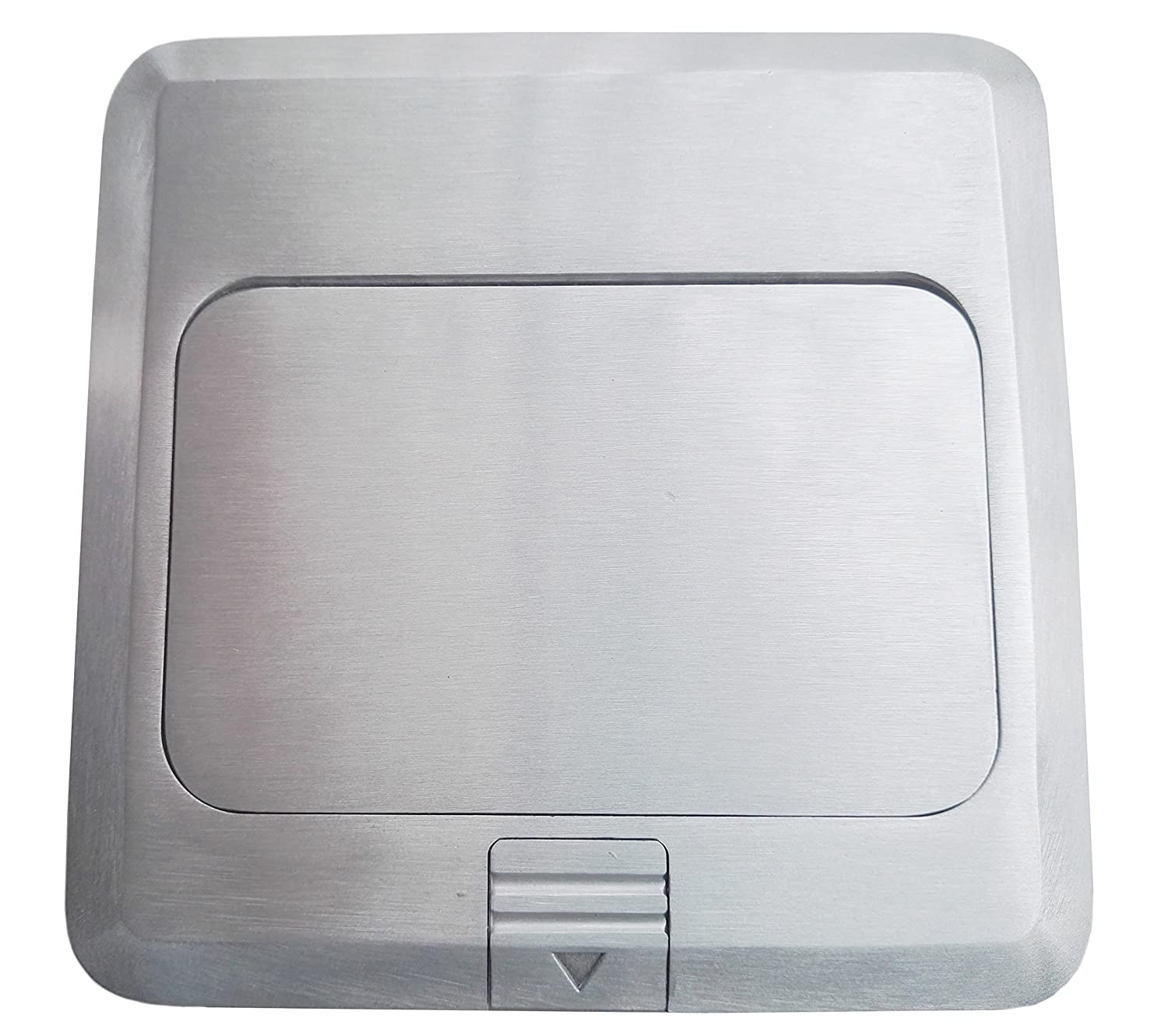 Brushed-Stainless Finish Pop Up Floor Box Countertop Box w//20A GFI Receptacle Electric Outlet