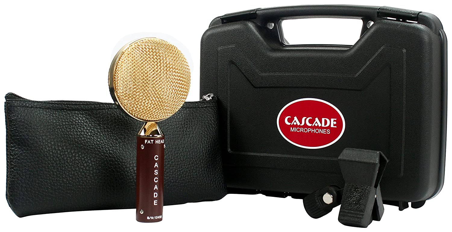 Cascade Microphones 98-G-A Fat Head Ribbon Microphones, Brown Body/Gold Grill