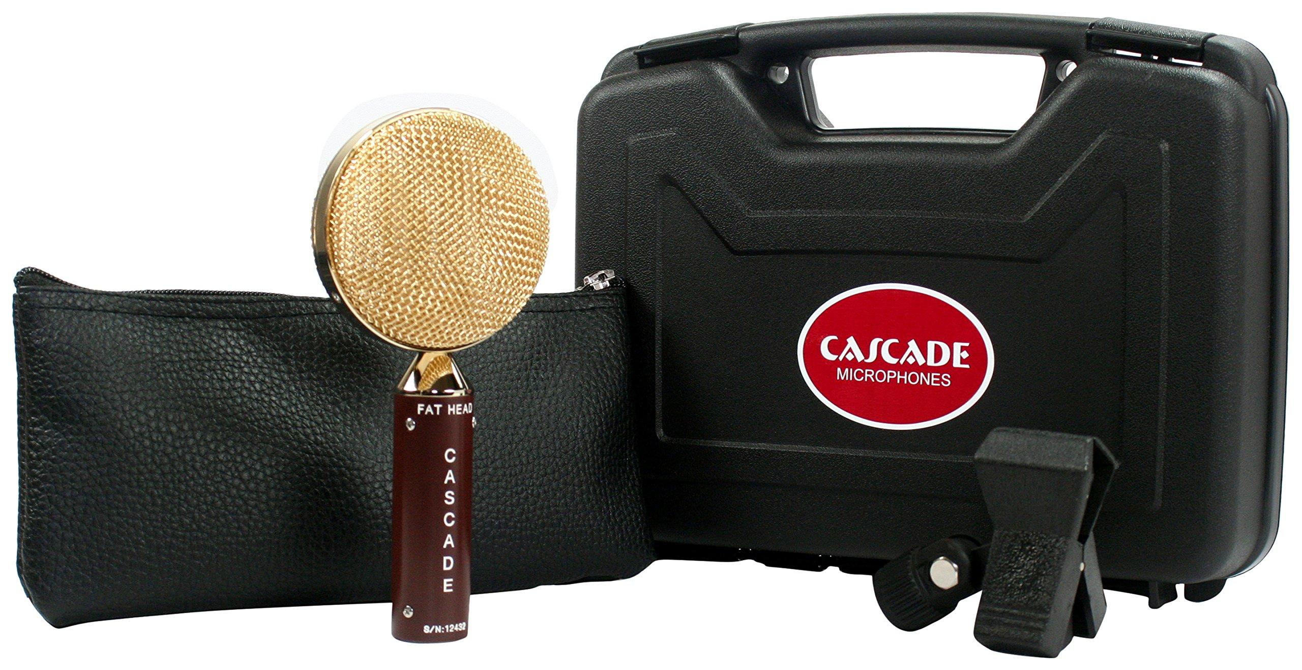 Cascade Microphones 98-G-A FAT HEAD Ribbon Microphone, Brown Body/Gold Grill by Cascade Microphones